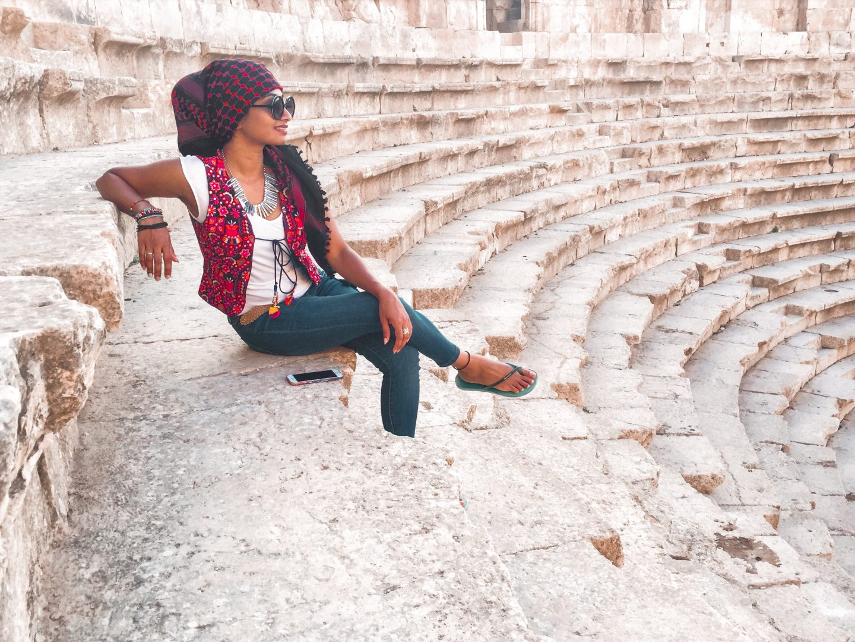 Amphitheatre at Jerash in Jordan