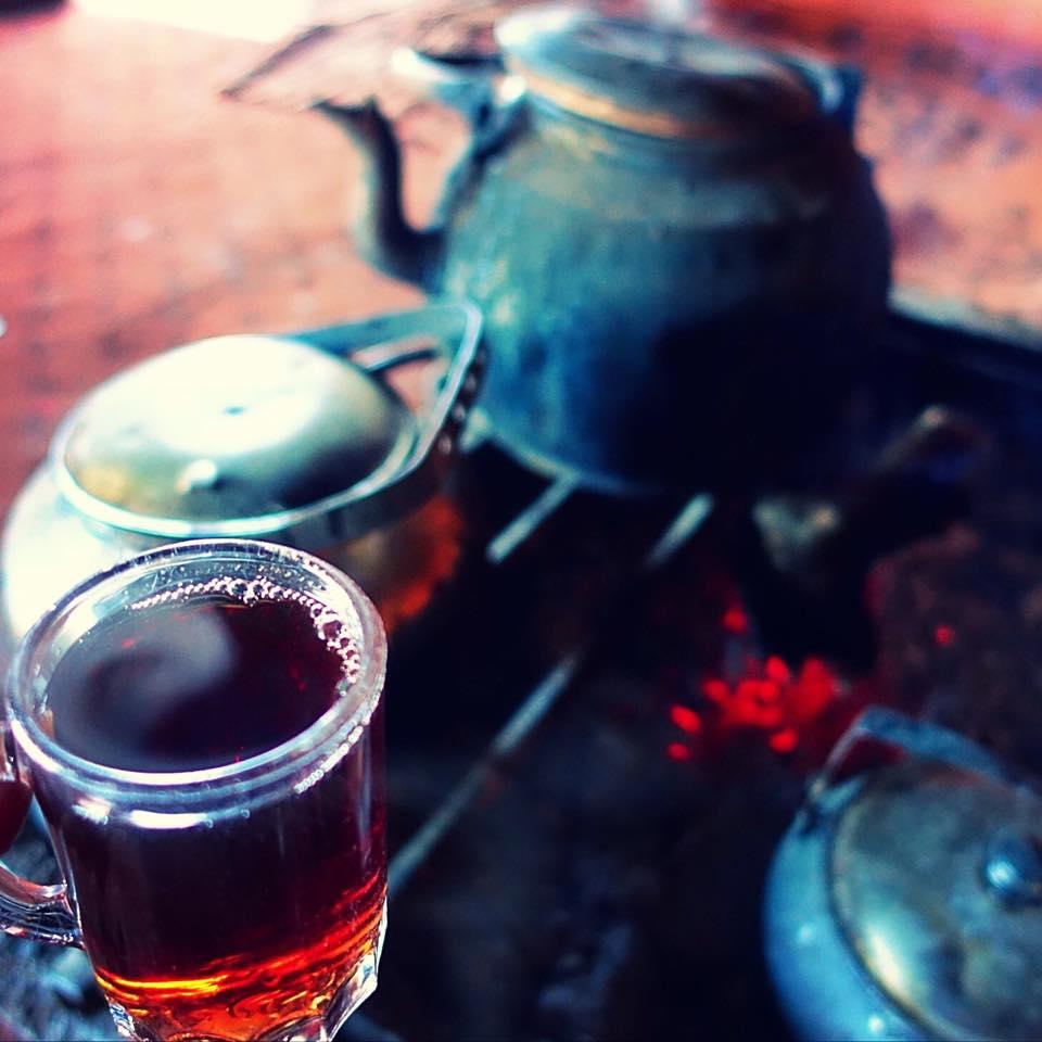 Herbal tea served at Wadi Rum in Jordan