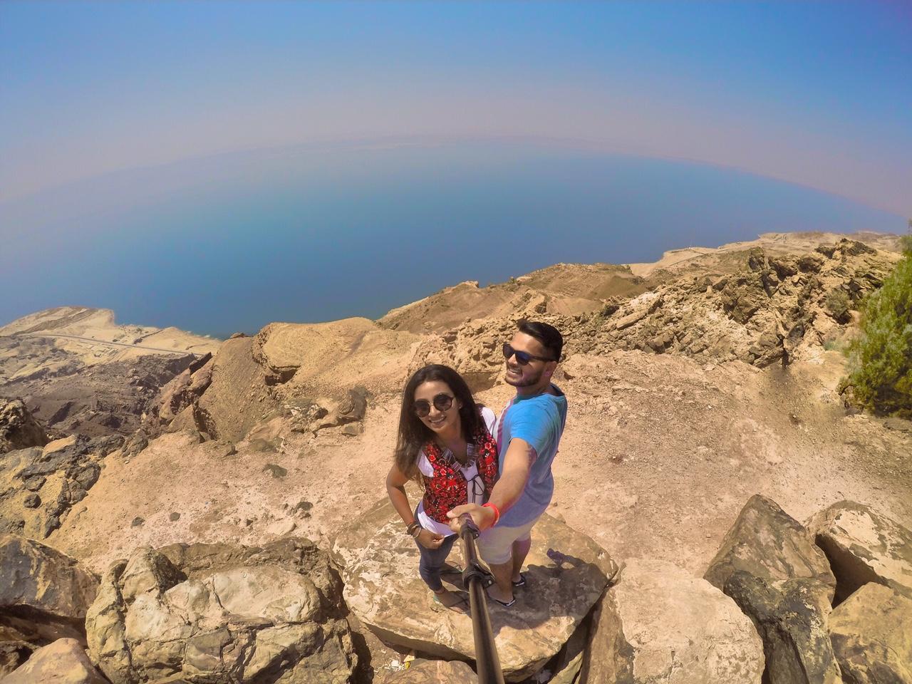 Views on Dead Sea in Jordan