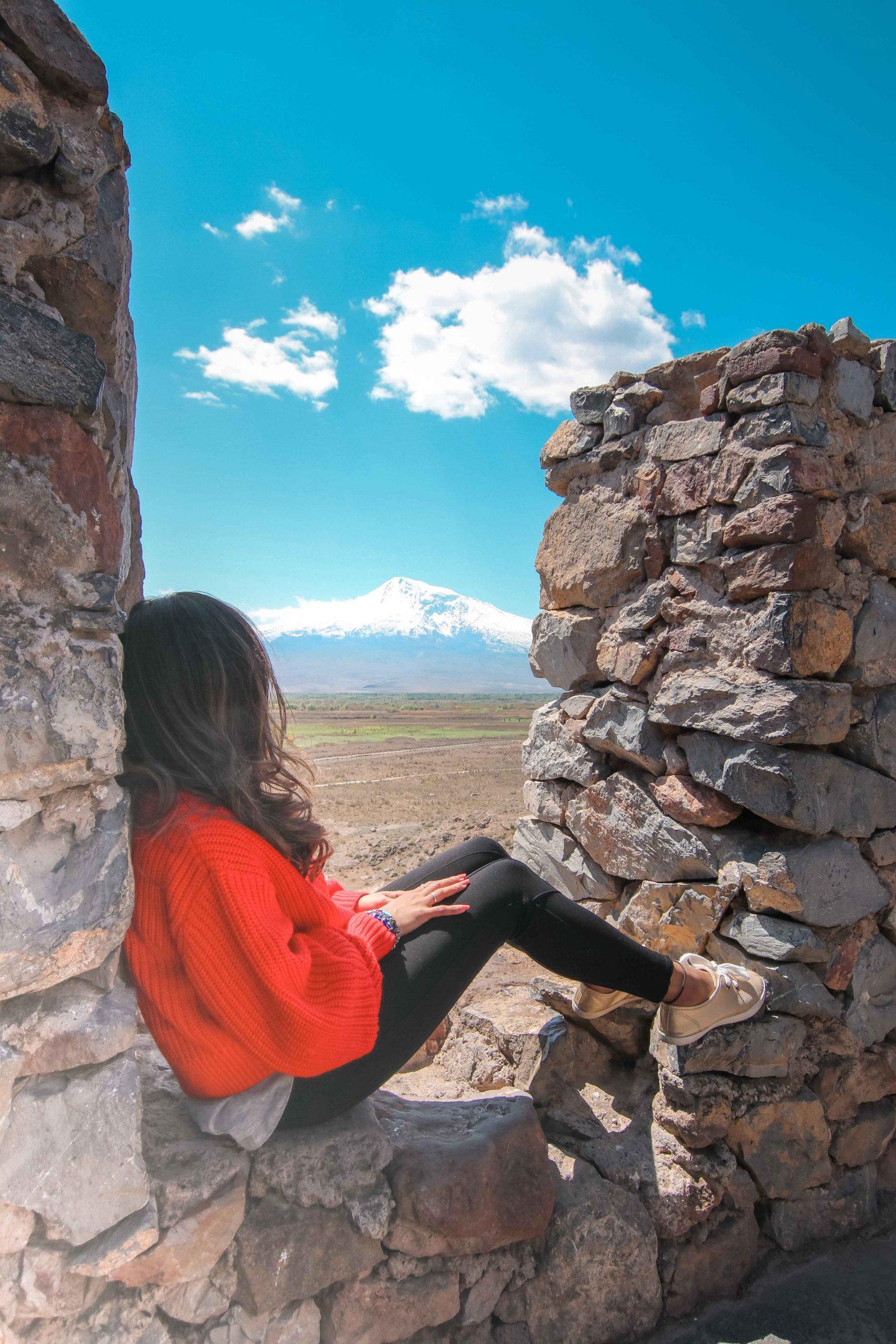 View of Mt.Ararat from Khor Virap Monastery