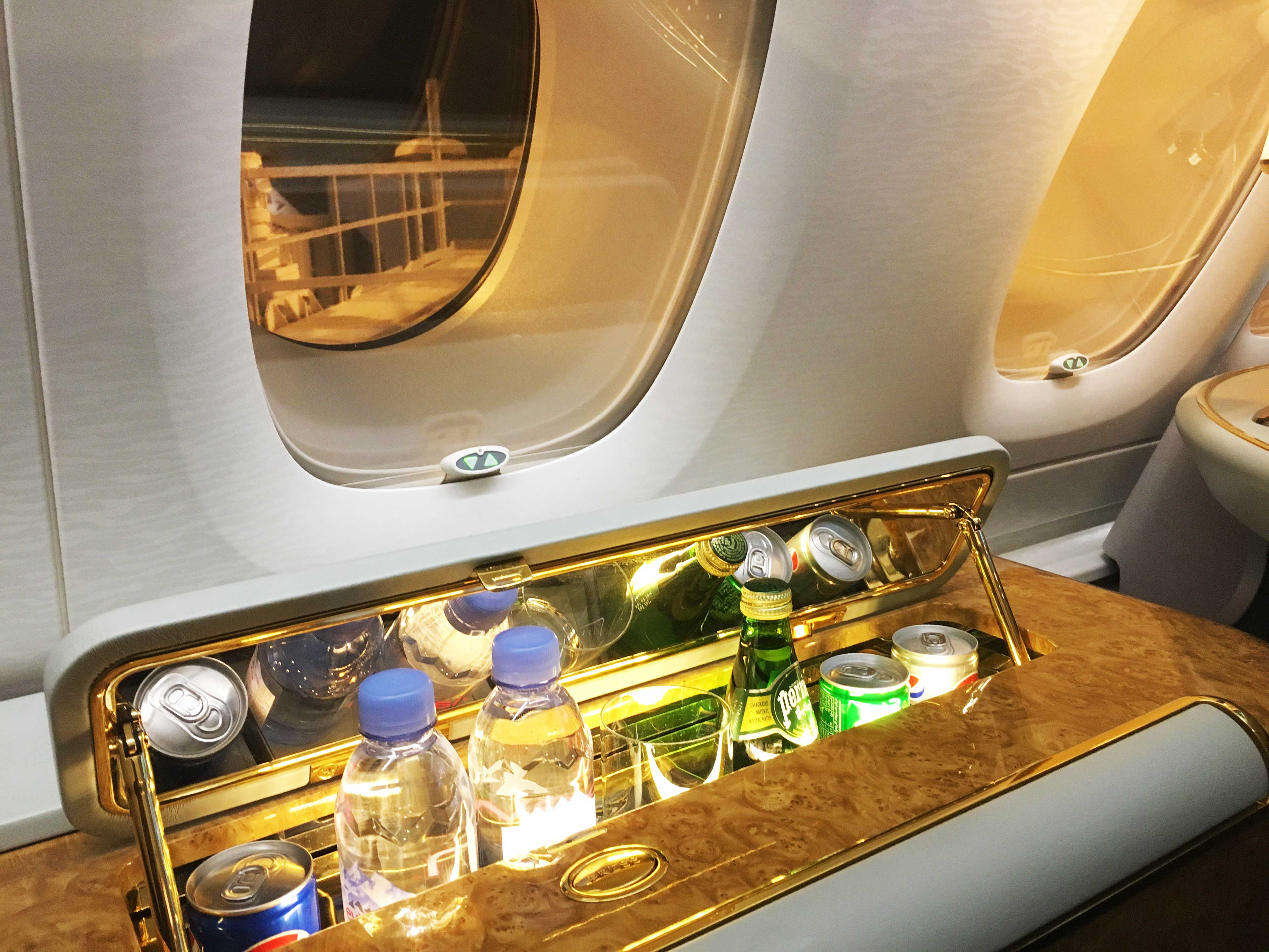The Emirates First Class Cabin