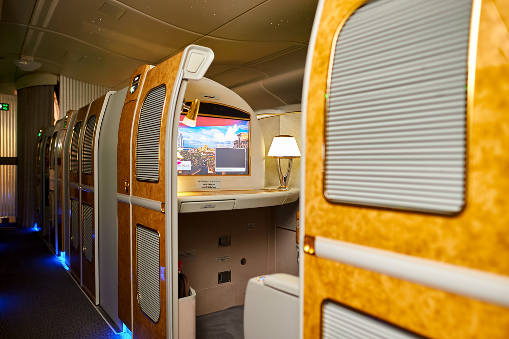 Individual cabin for each Passenger on Emirates First Class