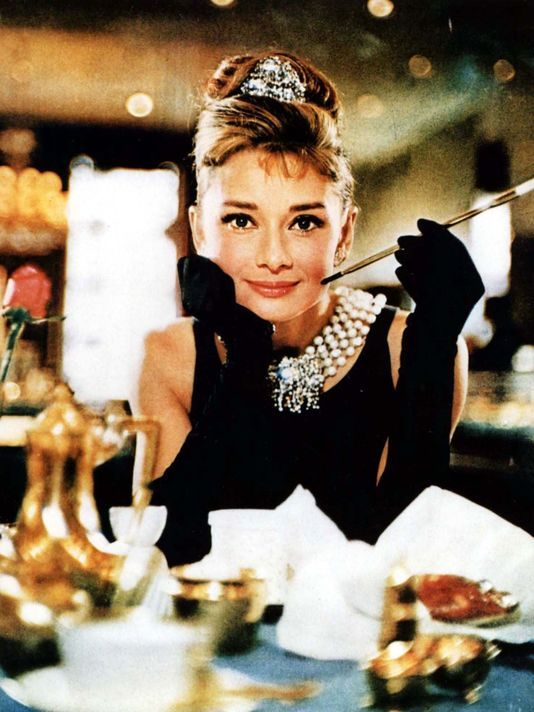 Audrey Hepburn in the iconic 'Breakfast at Tiffany's