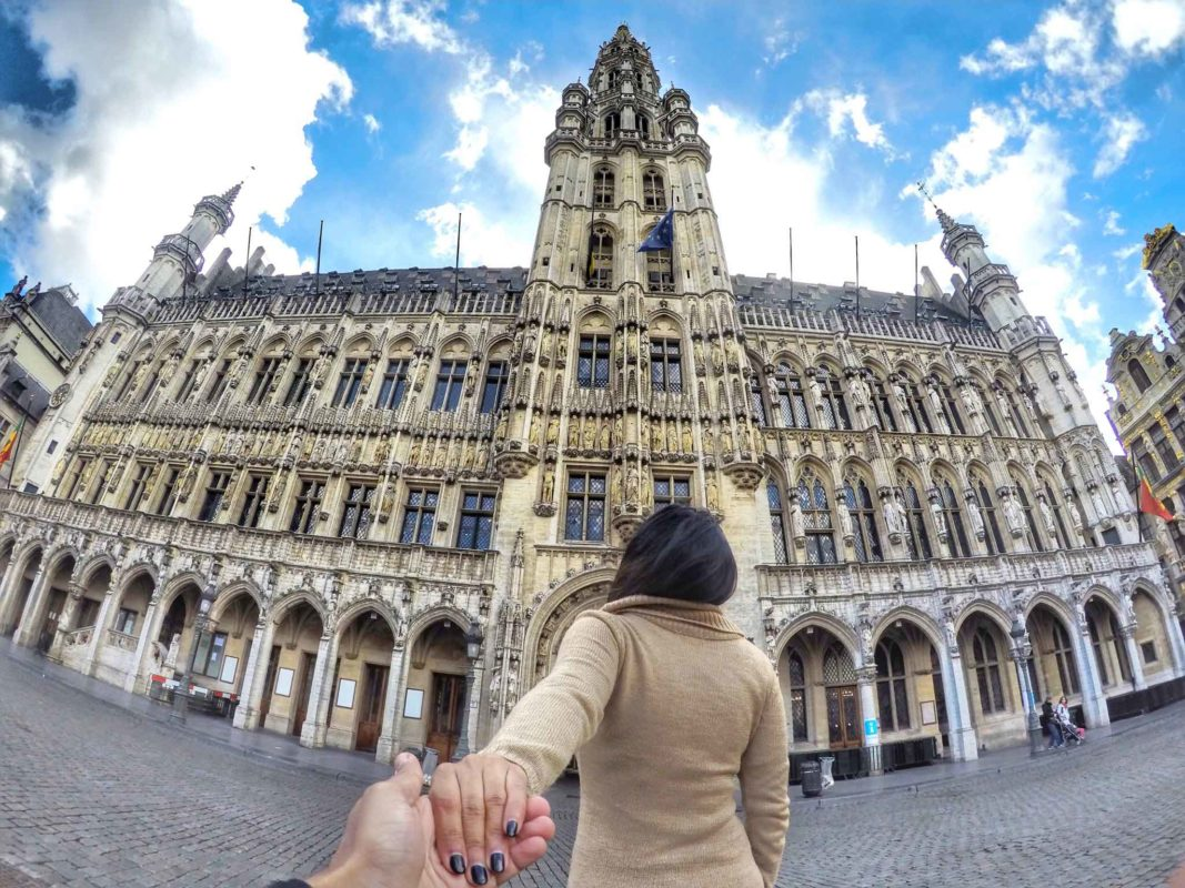24 hours In Brussels:GoPro Shot of Grand Place Brussels