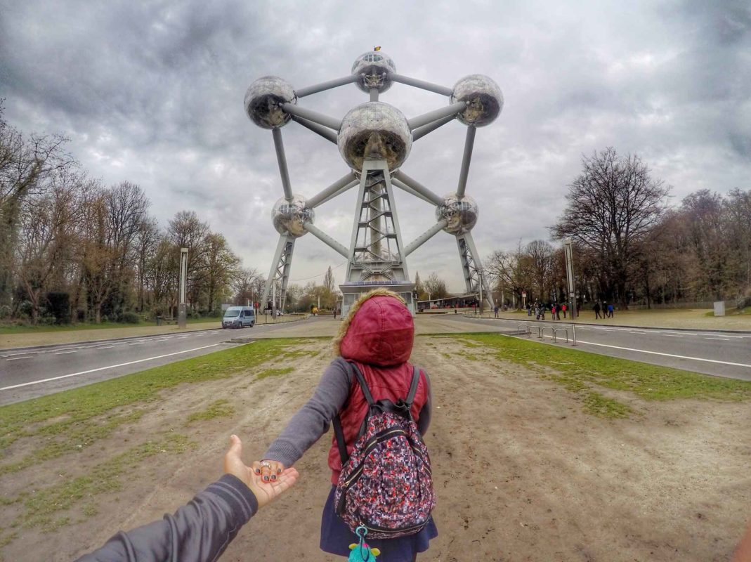 24 hours In Brussels:At the Atomium in Brussels Belgium