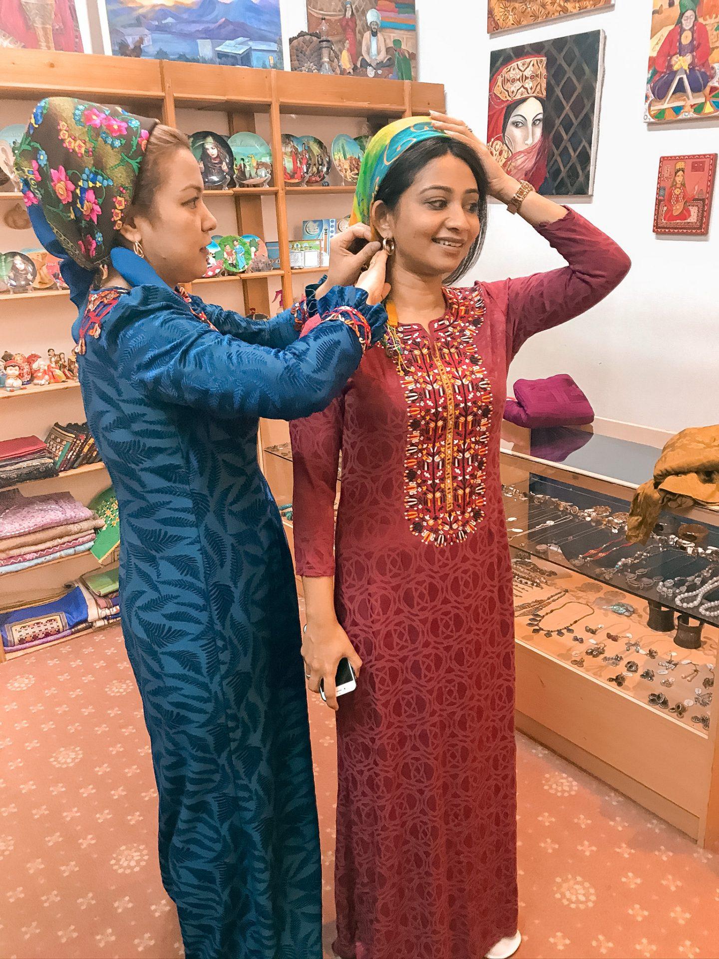 Turkmenistan traditional dress