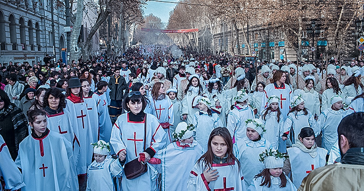Alilo, A traditional Christmas march in Georgia