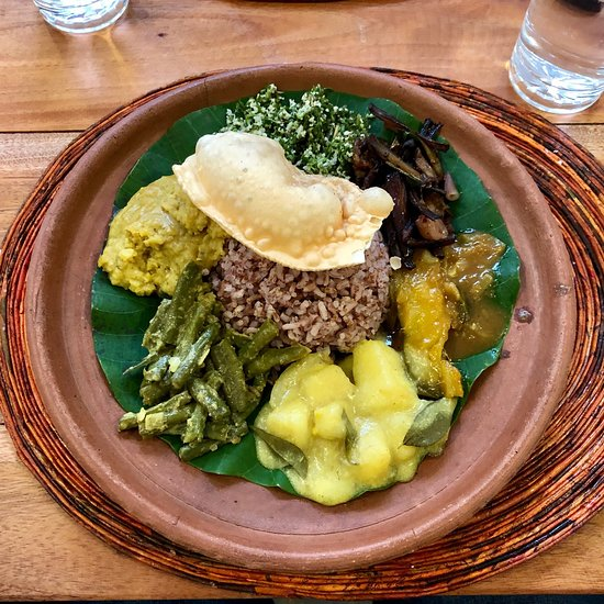 Traditional Sri Lankan Rice & Curry at Sthree Cafe in Kandy