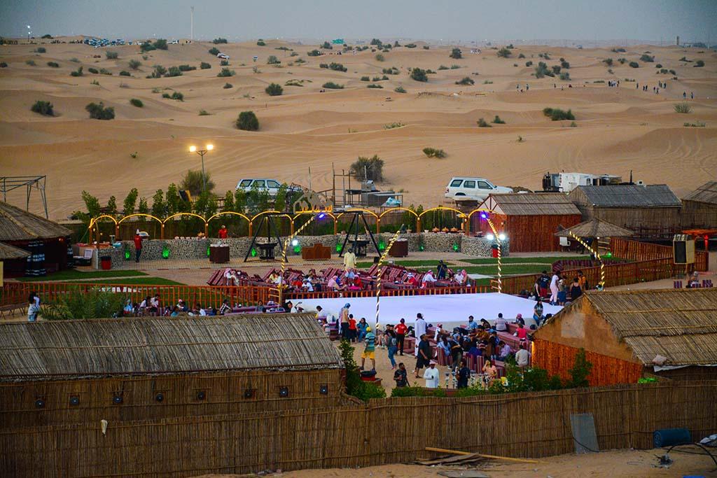 Desert safari camp in dubai